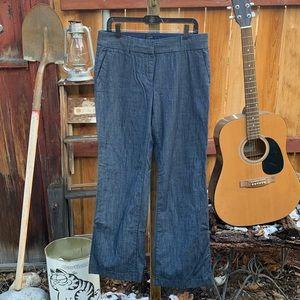J. Crew Wide Leg City Fit Denim Jeans.